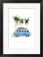 Surf Days II Framed Print