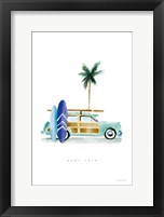Surf Days I Framed Print