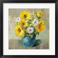 Sunflower Still Life I Framed Print