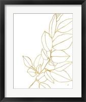 Framed Gold Magnolia Branch II