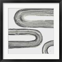 Framed Gray Rainbow V