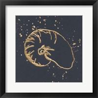 Gold Nautilus I Framed Print