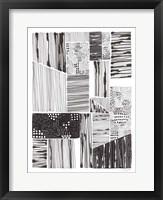 Lined Up IV Framed Print