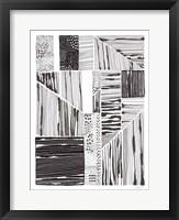 Lined Up II Framed Print