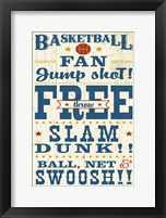 Sports Lovers IV Red v2 Framed Print