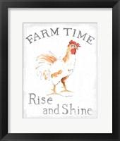 Farm Time Enamel v2 Framed Print