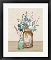 Cotton Bouquet II Cream Framed Print