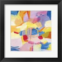 Framed Pastel Shades Abstract