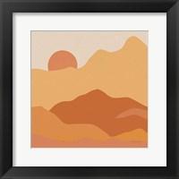 Framed Mountainous II Orange