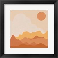 Framed Mountainous I Orange
