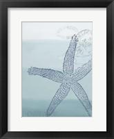 Seaside Card 4 V2 Framed Print