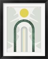 Mid Century Modern Sky 1 Framed Print