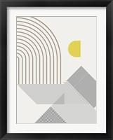 Mid Century Modern Cabana 1 Framed Print