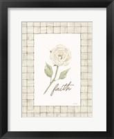 Faith Flower Framed Print