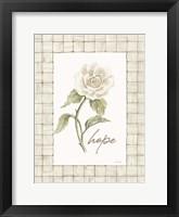 Hope Flower Framed Print