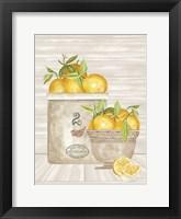 Framed Lemon Crock and Bowl