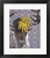 Mrs. Caribou Framed Print