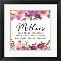 Framed Floral Mothers Hold