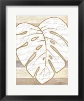 Coastal Leaf I Framed Print