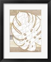 Coastal Leaf II Framed Print