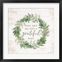 Framed Grateful Heart Wreath