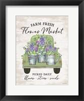 Framed Flower Market - Hyacinths
