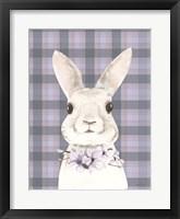 Framed Plaid Bunny Floral