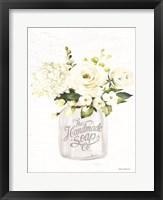 Framed Bathroom Flower Jar