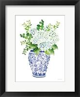 Chinoiserie Hydrangea I Framed Print