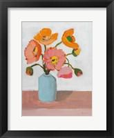 Sorbet Poppies II Framed Print