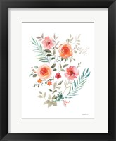 Floral Serenade III Framed Print