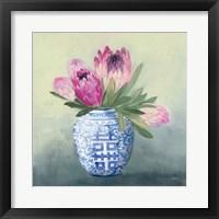 Protea Chinoiserie I Framed Print