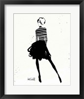 Style Sketches VII Framed Print