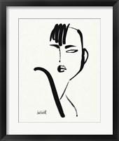 Brush Portrait I Framed Print