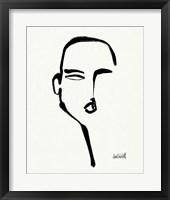 Brush Portrait II Framed Print