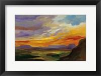 Framed Sonoran Desert Sunset