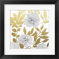 Gold Mid Day Bouquet 1 Framed Print