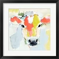 Pastel Cow I Framed Print