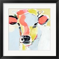 Pastel Cow II Framed Print