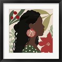 Christmas Earring I Framed Print
