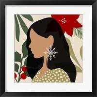 Christmas Earring II Framed Print