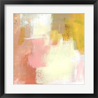 Yellow and Blush I Framed Print