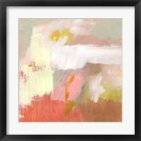 Yellow and Blush II Framed Print