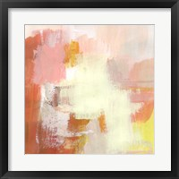 Yellow and Blush III Framed Print