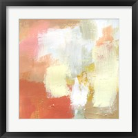 Yellow and Blush IV Framed Print