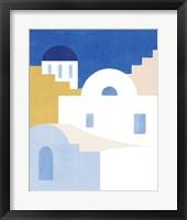 Simple Santorini II Framed Print
