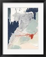 Ash Blue & Crimson I Framed Print