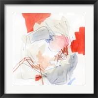 Coral Swirl I Framed Print