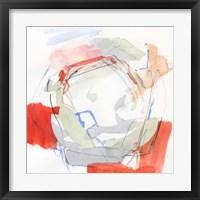 Coral Swirl II Framed Print