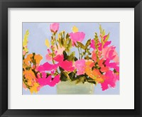 Saturated Spring Blooms I Framed Print